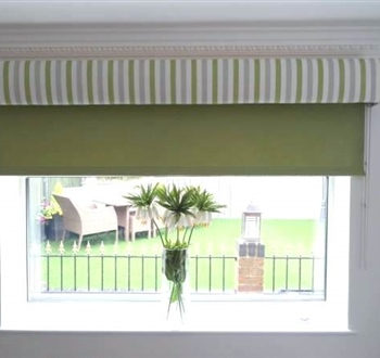 Padded Pelmet with Roller Blinds